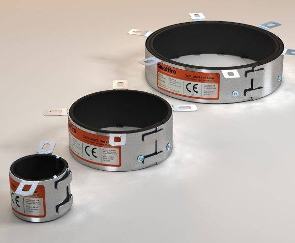Quelcast Intumescent Fire Collar for Plastic Pipes